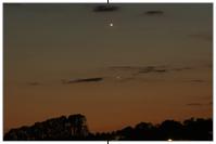 Merkur 1,5 Grad unterhalb Venus