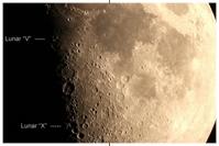 Mond mit Lunar X und Lunar V