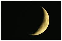 Mondsichel, Mondkrater Theophilus, Mondterminator