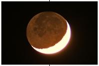 Mond mit Erdlicht, Erdschein