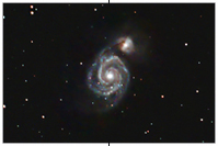 M51, Whirlpool Galaxie