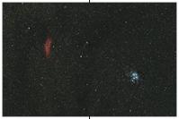 M45 und NGC 1499 im 50 mm Objektiv