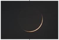 Schmale Mondsichel - Beleuchtungsgrad 3,9 %