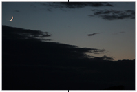 Mondsichel-Merkur-Venus-Konstellation vom 24.5.2020