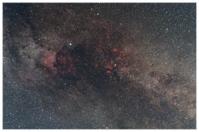 Sommermilchstraße im Sternbild Schwan