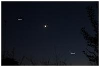 Mars, Mond, Venus