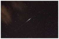 Perseid, Satelliten-Flare