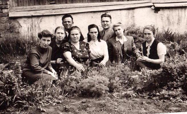 май 1961 года. Коллектив учителей Сосновской школы