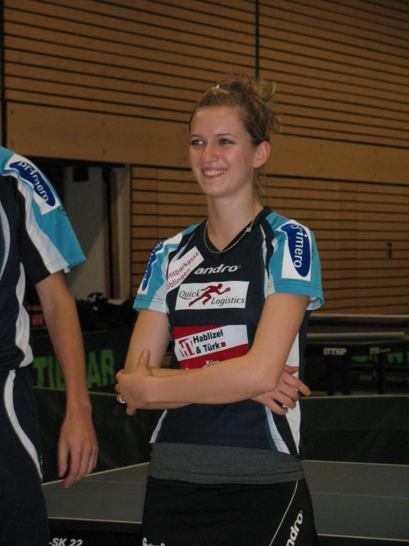 Ihr Lächeln verzauberte die Tischtennis-Jugend: Fulya Özler