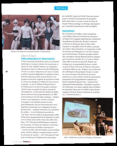 Magazine Théâtre(s) n°2, été 2015