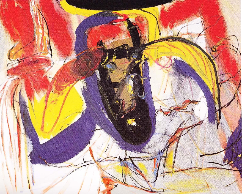 """""""Schwimmer"""", 1989, Öl/Leinwand"""