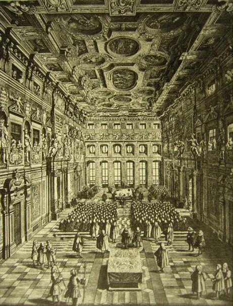 Der Goldene Saal, Stich von Joh. G. Pinz, 1732