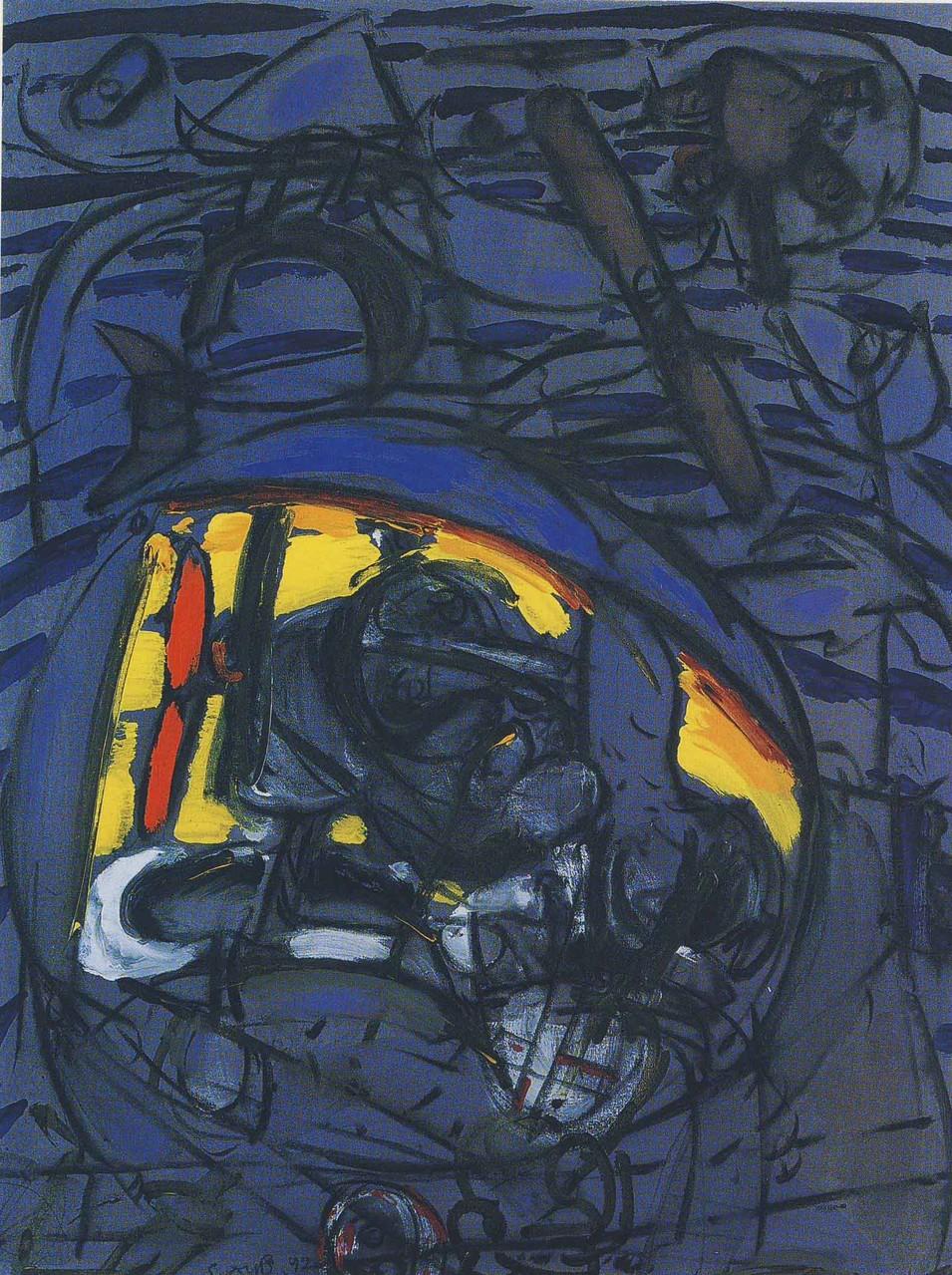 """""""Augenblick"""", Acryl auf Leinwand, 1992"""
