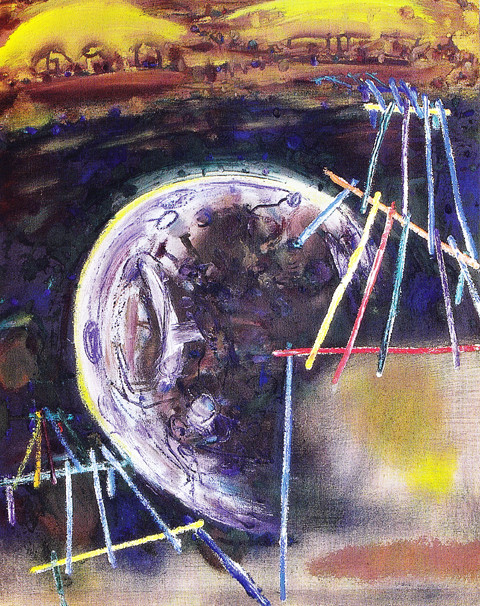 Ponton 4, 1999/2006 - Öl/Rupfen