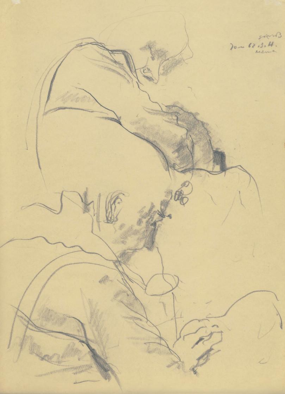 Katharina, Zeichnung auf Transparentpapier, 1962