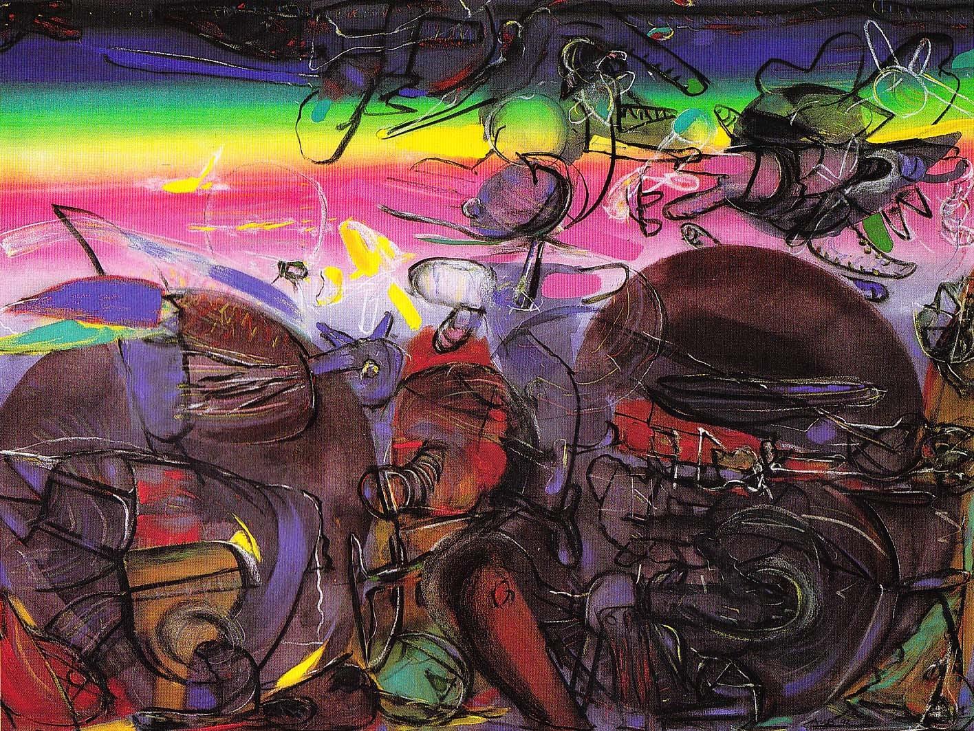 """Horizonte"" 1, Acryl auf Leinwand, 1992"