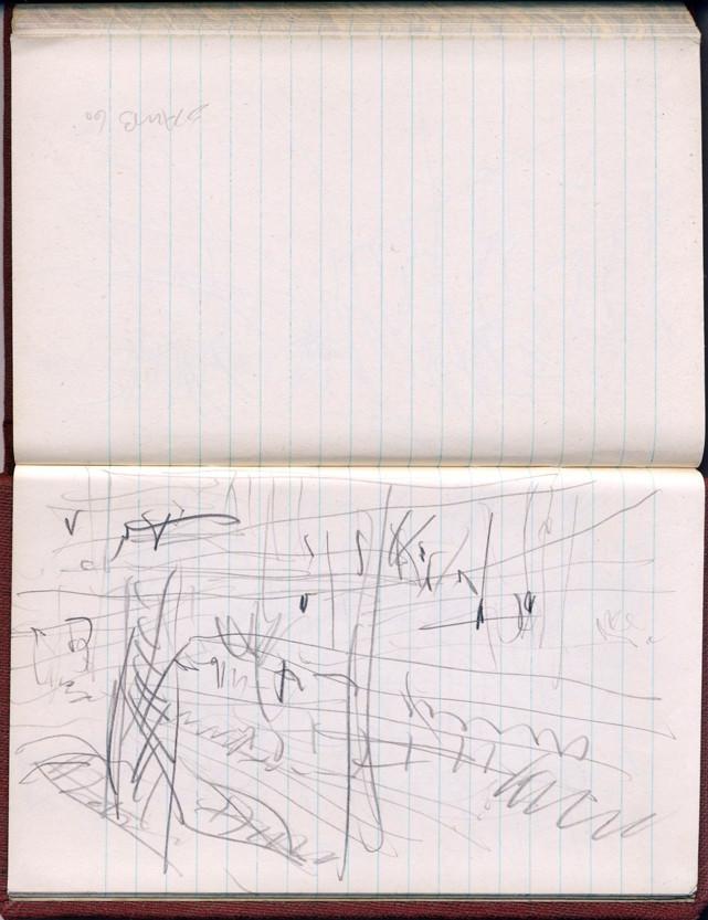 Impulse 2 aus der Reihe Zugzeichnungen, 1960