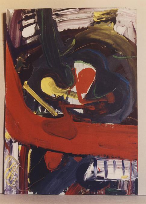 Wegbilder, Gouache, H 82 x B 62, 1980