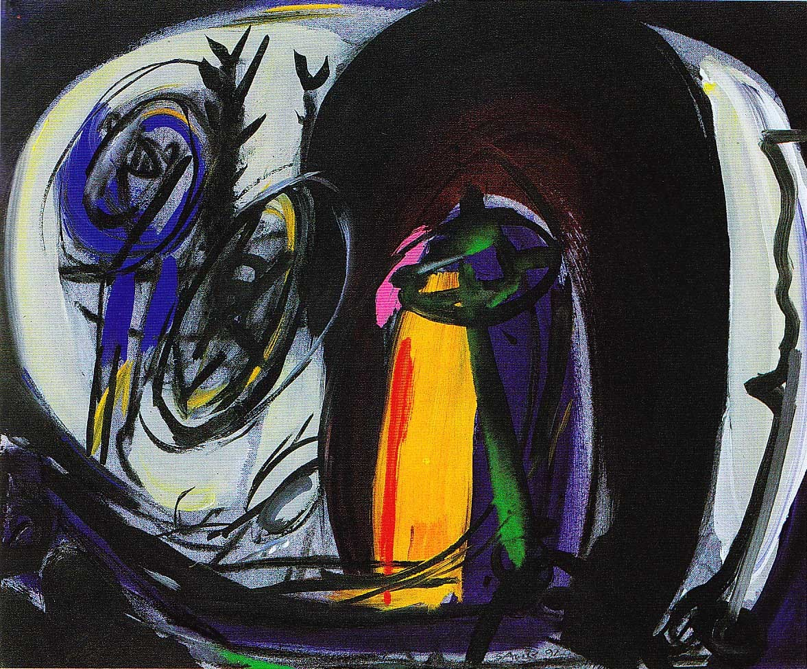 """Bildkeime"", Acryl auf Leinwand, 1992"