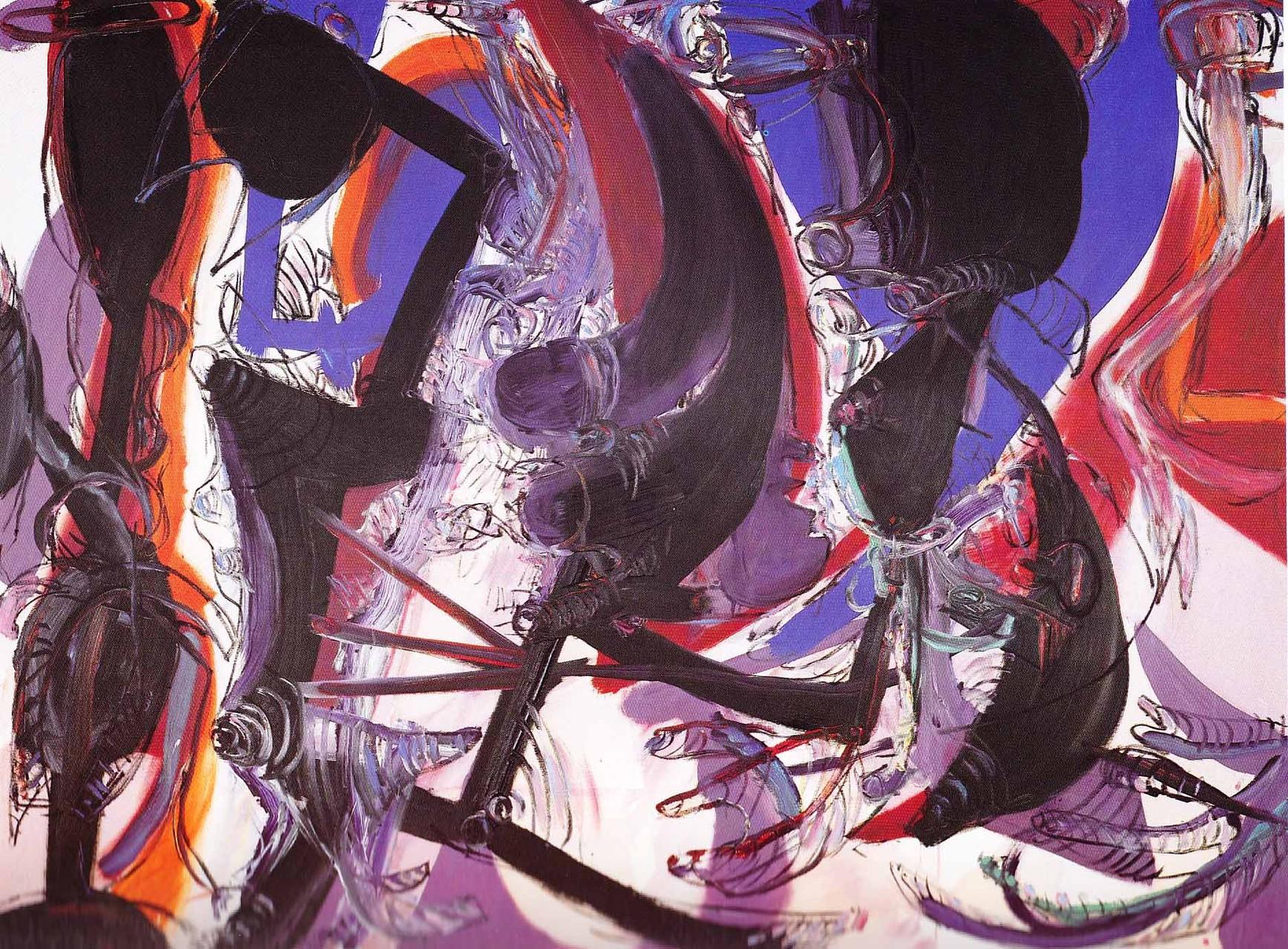 """Pflanzengespräche N. 1"", 1989, Öl/Leinwand"