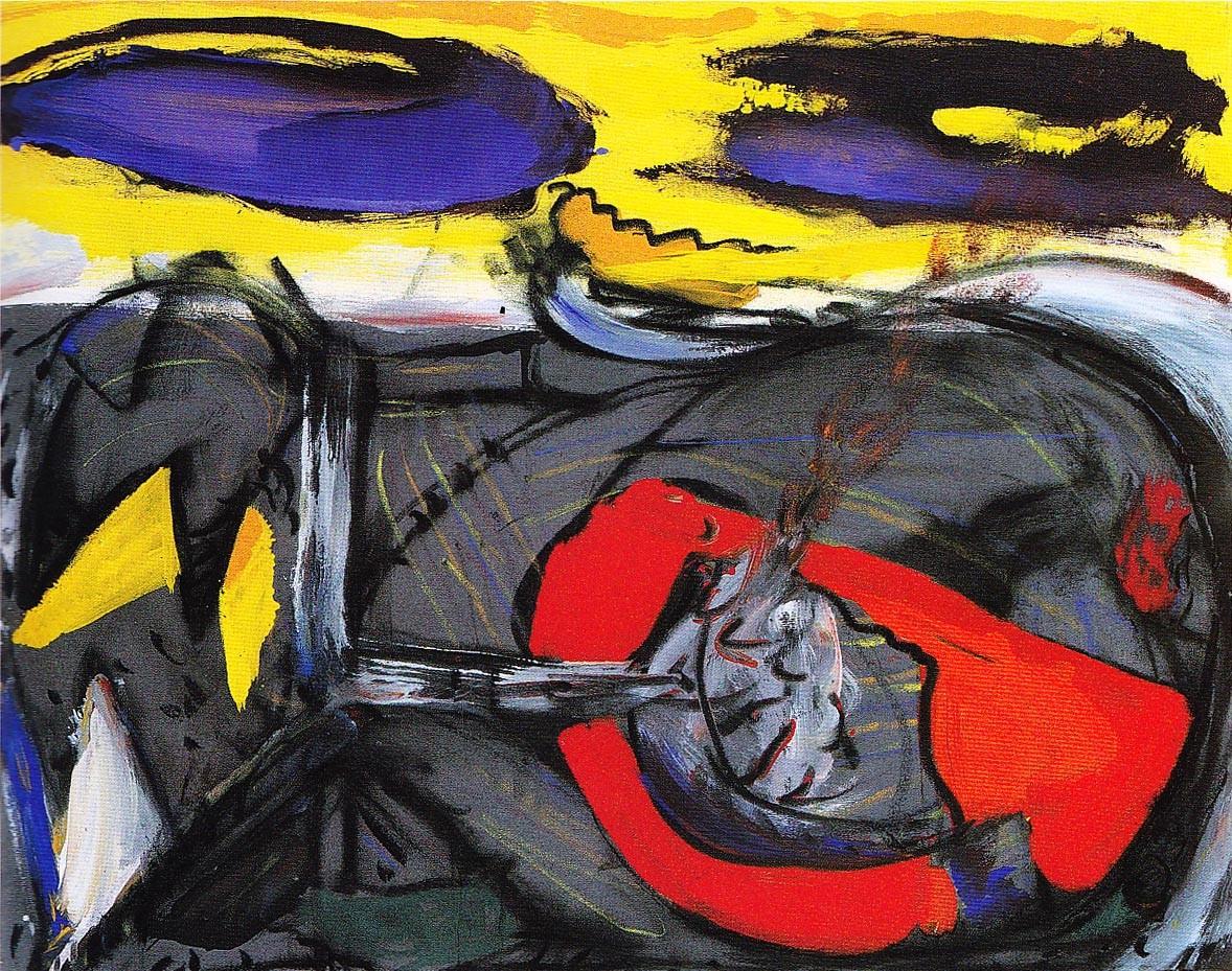 """""""Feuerkopf"""", Acryl auf Leinwand, 1992"""