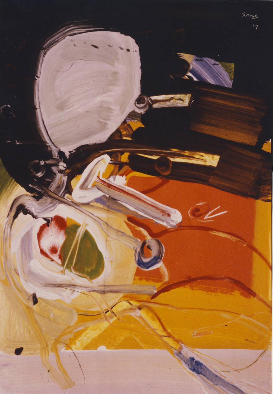 Horizontgänger, Gouache, H 60,5 x B 42,5, 1981