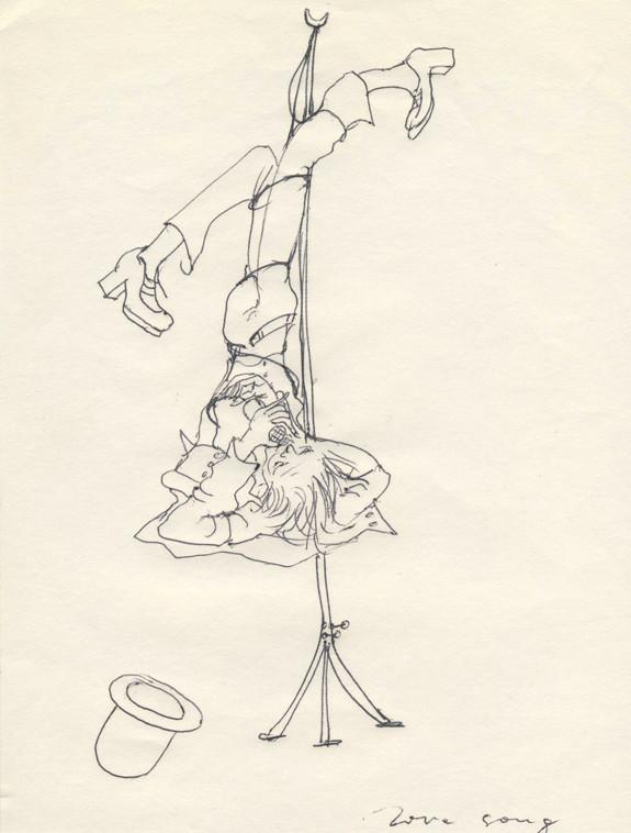 Love Song 5, Kugelschreiber auf Papier, 1976