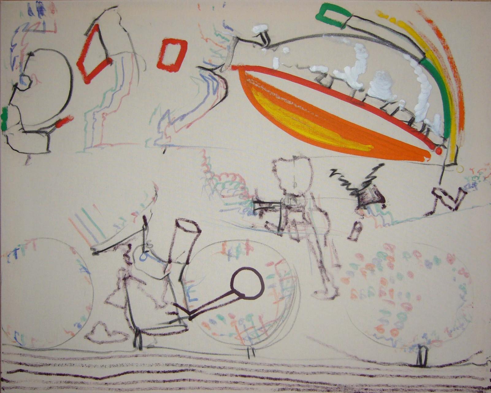 Farbkontakte-Momentaufnahmen, 2005-12, Mischtechnik auf Leinwand