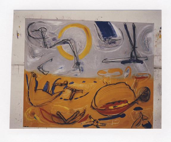 """""""Talamone"""", Acryl auf Leinwand, 1992"""