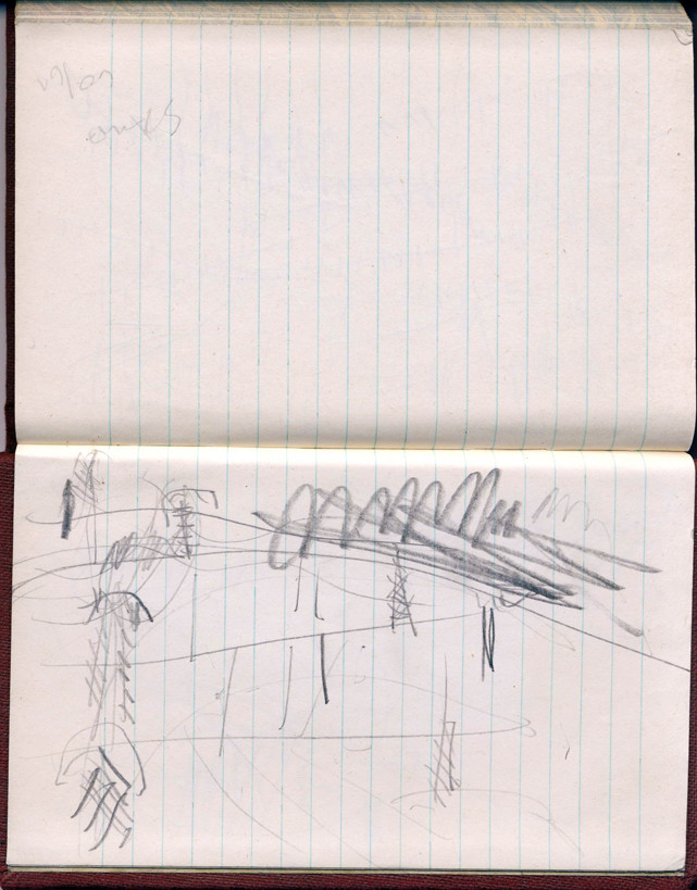 Impulse 1 aus der Reihe Zugzeichnungen, 1960