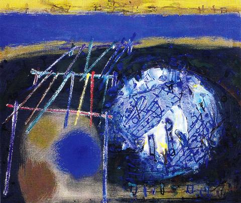 Ponton 9, 1998/2006 - Öl/Rupfen