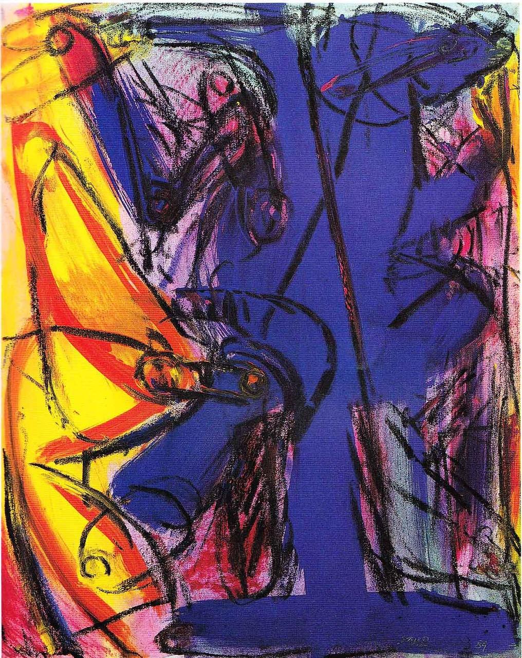 """""""Plasma"""", Öl auf Leinwand, 1989"""