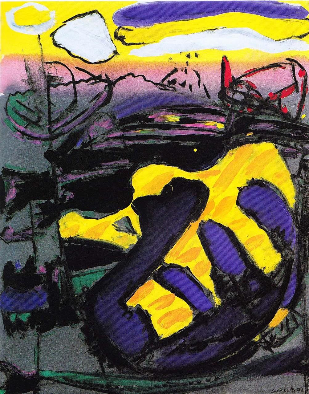 """Reflexe"", Acryl auf Leinwand, 1992"