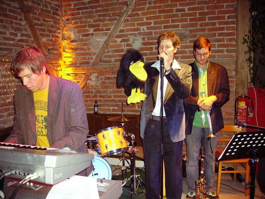 Kleines Jazzkonzert 2005 mit Gix, Johannes und Raphael Steber