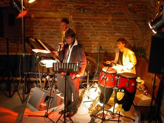 Kleines Jazzkonzert 2004 mit Gix, Johannes und Raphael Steber
