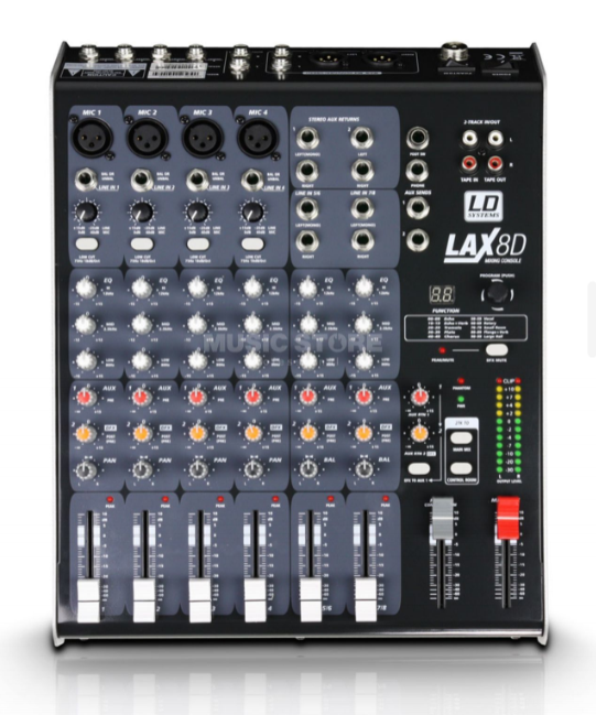 Mischpult LD Systems LAX80 mit FX Effect
