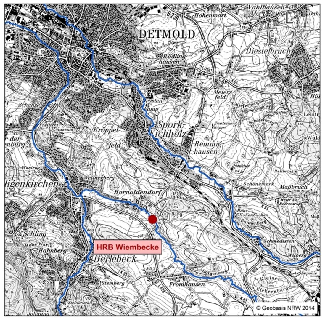 Karte mit Standortkennzeichnung