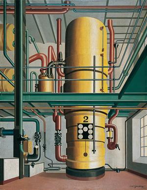 Carl Grossberg, Der gelbe Kessel, 1933 Öl auf Leinwand auf Holz, 90 x 70 cm , Von der Heydt-Museum Wuppertal