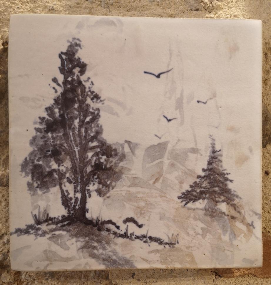 théières et tasses, poterie l'empreinte, Meyronne