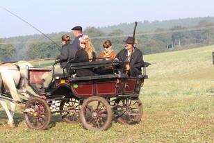 Die Hüter wurden mit Kutsche vorgefahren (Bild: A. Gerlach)