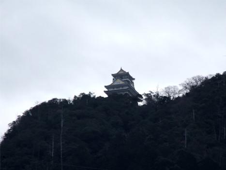 岐阜城天守閣、麓からの眺め