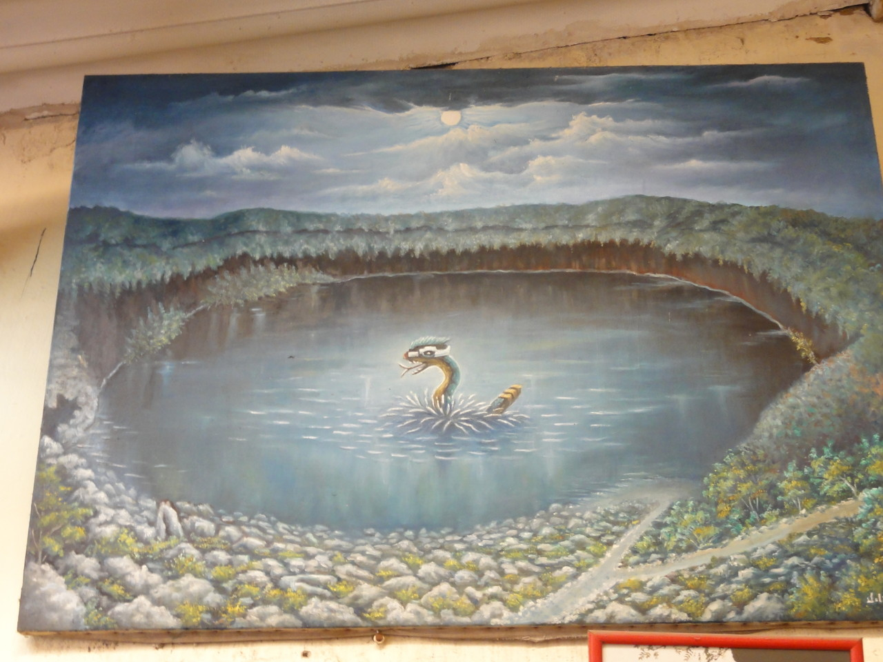 ... the dragón water monster / el mónstruo dragón de las aguas