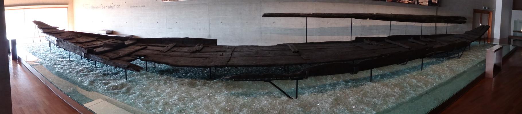 galo-roman barge (barcaza, Lastkahn)...