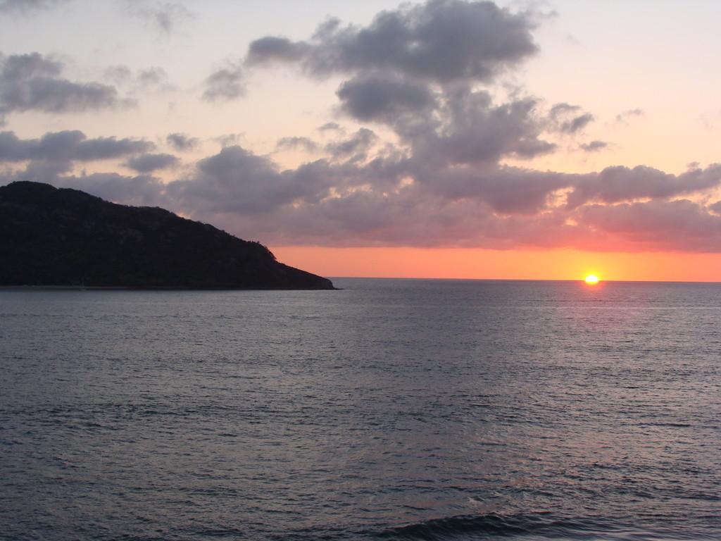 sunset in Mazatlan, Sinaloa, looking at the isla de los Venados (Dear-Island)