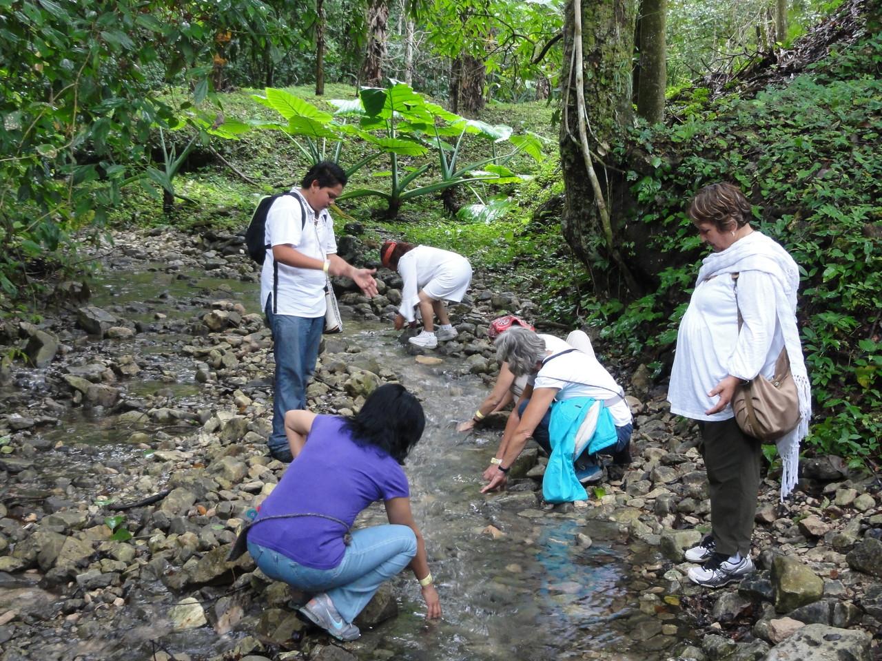 the river was important to the Palenque people / el río fue importante para la gente de Palenque