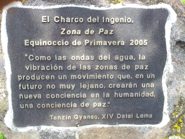 "XVI Dalai Lama named this wonderfull calm place 2004 ""Zone of Peace"""