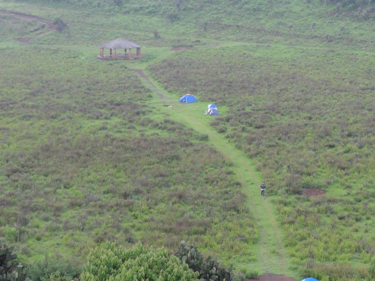 our campo / nuestro campamento...