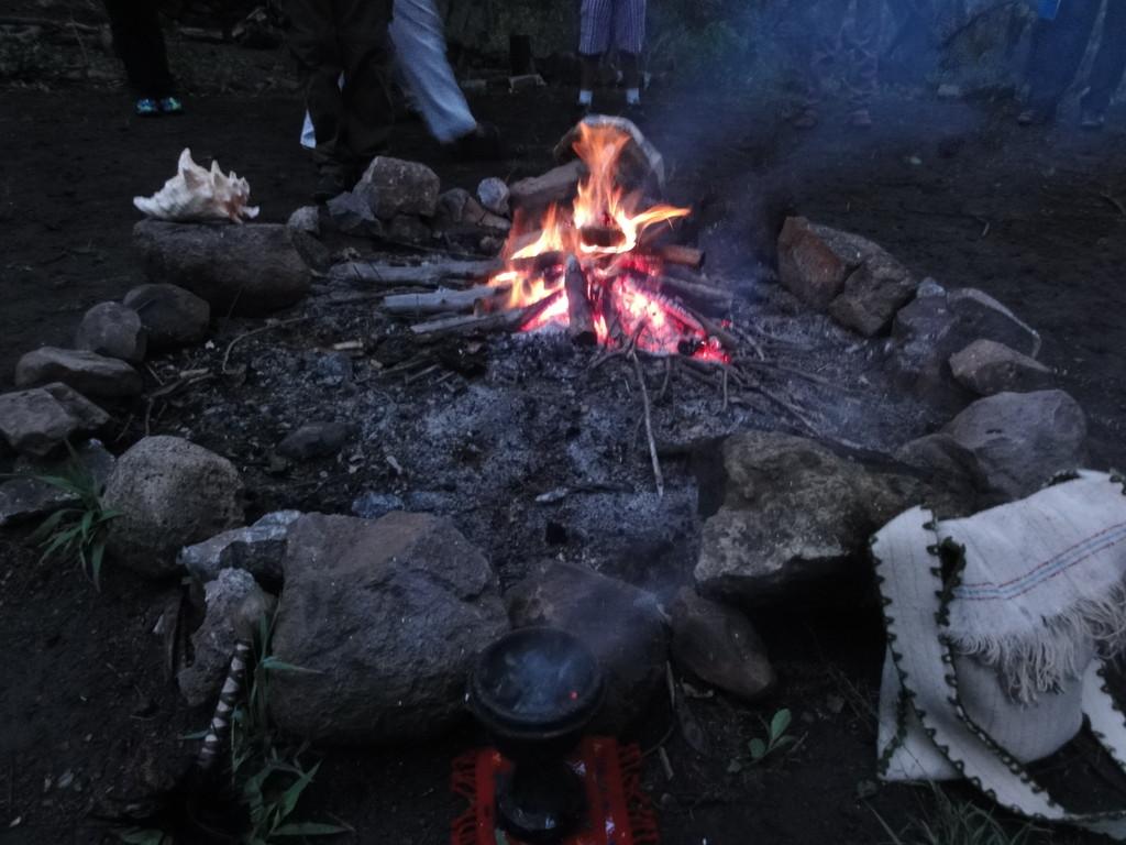 The fire is always with us / el fueguito nos  acompañó. Malinalco
