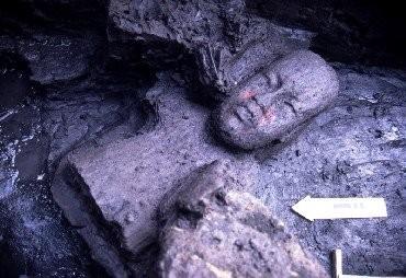 ... figura encontrada en el lodo cerca de los manantiales al pie del Cerro del Manatí...