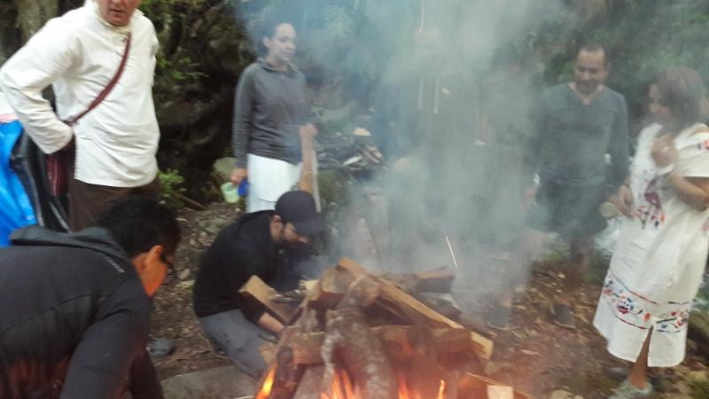 ceremonia de fuego / Feuerzeremonie